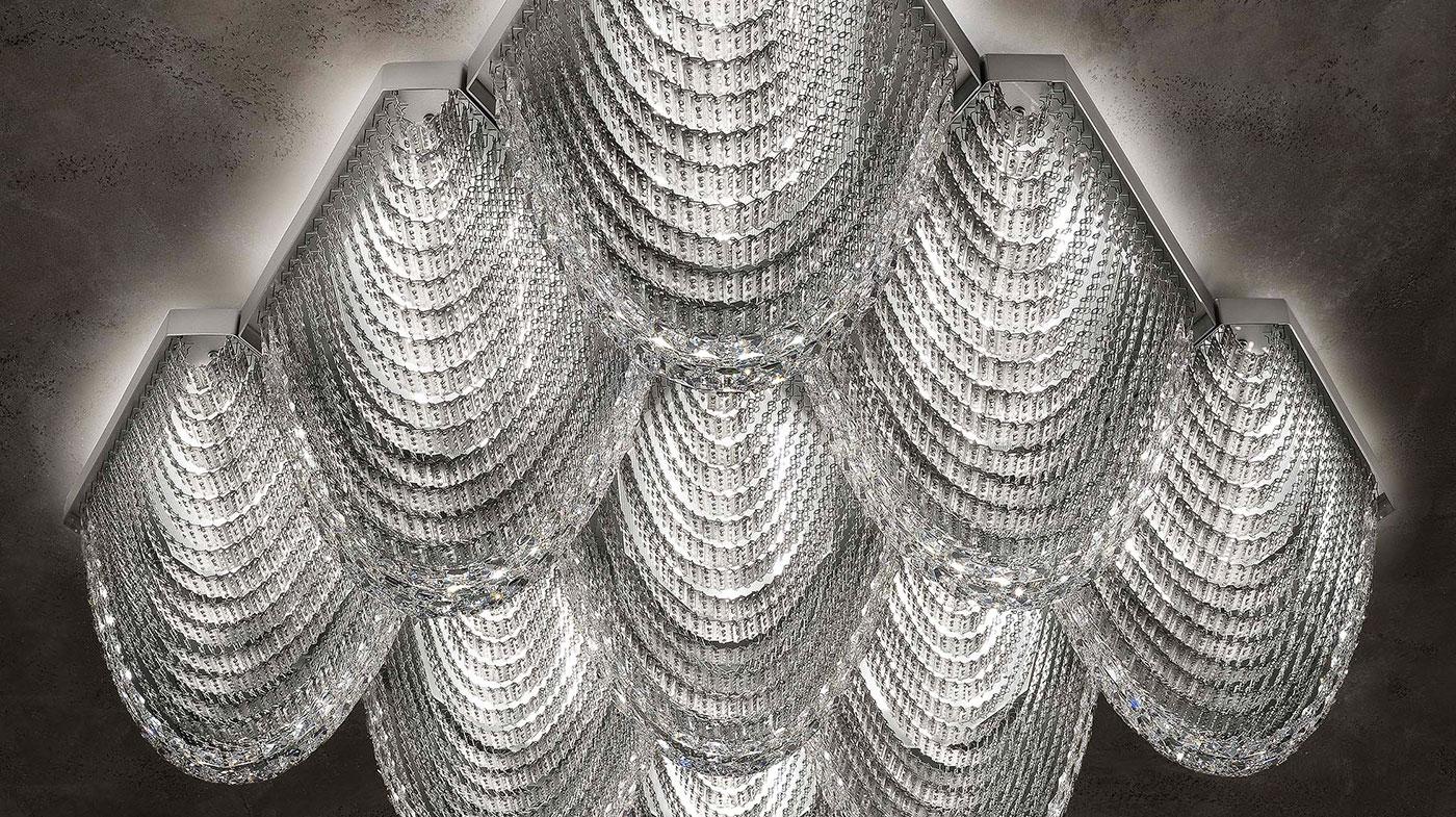 ESCHER PL ST nine elements composition seen from below natural aluminum